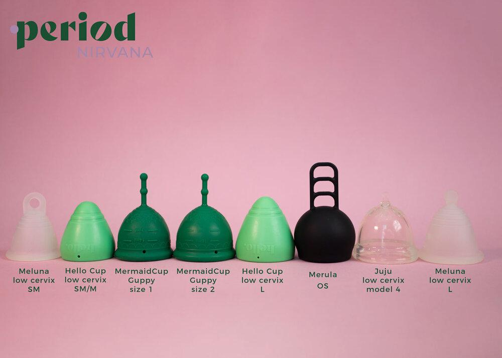 Low cervix menstrual cup comparisons